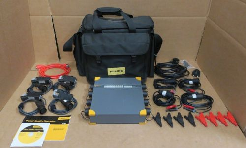 Fluke 1760 Power Quality Recorder Topas 8 Channel Voltage Current Tester 3 Phase
